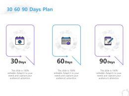 30 60 90 Days Plan Management C1251 Ppt Powerpoint Presentation Professional Ideas