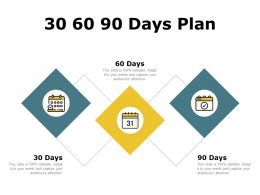 30 60 90 Days Plan Management C1280 Ppt Powerpoint Presentation Slides