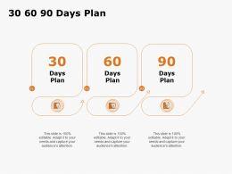 30 60 90 Days Plan Management C1281 Ppt Powerpoint Presentation Professional Aids