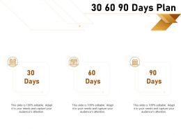 30 60 90 Days Plan Management C1284 Ppt Powerpoint Presentation Inspiration Objects