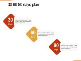 30 60 90 Days Plan Management C1285 Ppt Powerpoint Presentation Ideas Graphics Pictures