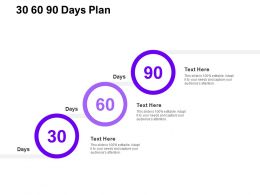 30 60 90 Days Plan Management C1307 Ppt Powerpoint Presentation Influencers