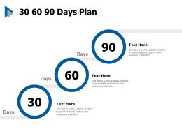 30 60 90 Days Plan Management C437 Ppt Powerpoint Presentation Model Gridlines