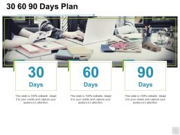 30 60 90 Days Plan Management I457 Ppt Powerpoint Presentation Slides Demonstration