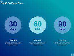 30 60 90 Days Plan Management L1019 Ppt Powerpoint Presentation Pictures