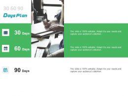 30 60 90 Days Plan Management L1056 Ppt Powerpoint Presentation Icon