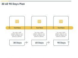 30 60 90 Days Plan Management L1063 Ppt Powerpoint Presentation Ideas