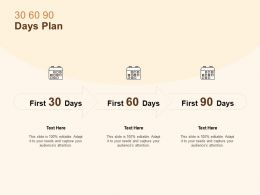 30 60 90 Days Plan Management L1073 Ppt Powerpoint Presentation Images