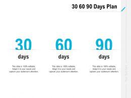 30 60 90 Days Plan Management L1097 Ppt Powerpoint Presentation Gallery