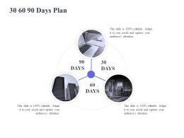 30 60 90 Days Plan Management L1112 Ppt Powerpoint Presentation Designs