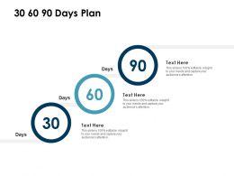 30 60 90 Days Plan Management L1169 Ppt Powerpoint Presentation Slides