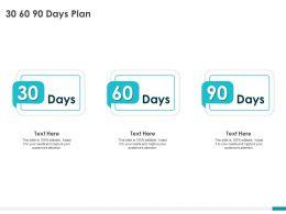 30 60 90 Days Plan Management L1226 Ppt Powerpoint Presentation Slides