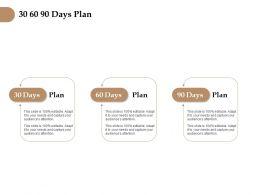 30 60 90 Days Plan Management L1257 Ppt Powerpoint Presentation File
