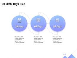 30 60 90 Days Plan Management L1292 Ppt Powerpoint Presentation Ideas