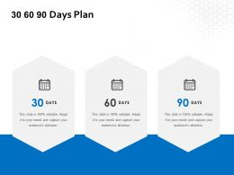 30 60 90 Days Plan Management L649 Ppt Powerpoint Presentation