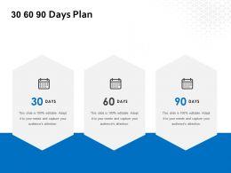 30 60 90 Days Plan Management L649 Ppt Powerpoint Presentation