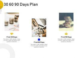 30 60 90 Days Plan Management L665 Ppt Powerpoint Presentation