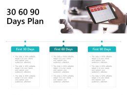 30 60 90 Days Plan Management L684 Ppt Powerpoint Presentation