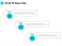 30 60 90 Days Plan Management L724 Ppt Powerpoint Presentation