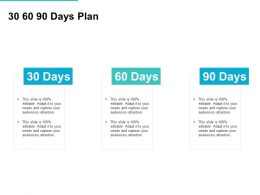 30 60 90 Days Plan Management L726 Ppt Powerpoint Presentation