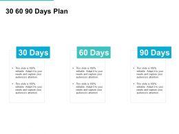 30 60 90 Days Plan Management L726 Ppt Powerpoint Presentation