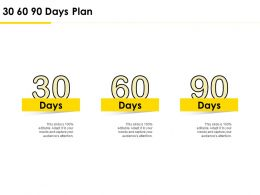 30 60 90 Days Plan Management L736 Ppt Powerpoint Presentation