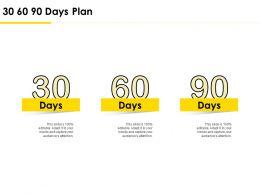 30 60 90 Days Plan Management L736 Ppt Powerpoint Presentation