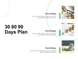 30 60 90 Days Plan Management L749 Ppt Powerpoint Presentation