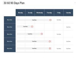 30 60 90 Days Plan Management L818 Ppt Powerpoint Presentation Show