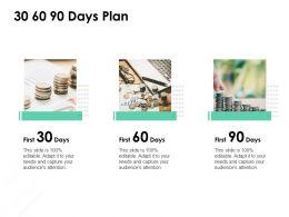30 60 90 Days Plan Management L822 Ppt Powerpoint Presentation Show