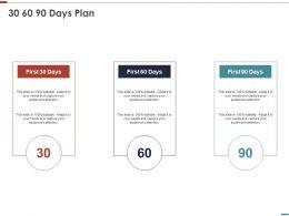 30 60 90 Days Plan Management L829 Ppt Powerpoint Styles Designs