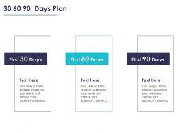 30 60 90 Days Plan Management L832 Ppt Powerpoint Presentation Pictures