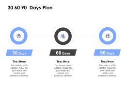 30 60 90 Days Plan Management L839 Ppt Powerpoint Presentation Icon
