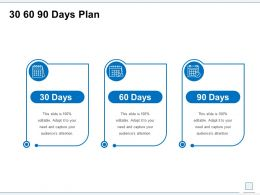 30 60 90 Days Plan Management L852 Ppt Powerpoint Graphics