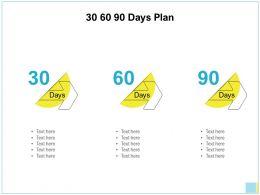 30 60 90 Days Plan Management L853 Ppt Powerpoint Presentation Icon