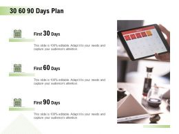 30 60 90 Days Plan Management L905 Ppt Powerpoint Presentation Template
