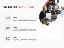 30 60 90 Days Plan Management L918 Ppt Powerpoint Presentation Ideas Deck