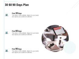 30 60 90 Days Plan Management L957 Ppt Powerpoint Presentation Model