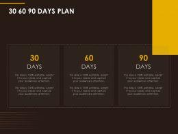 30 60 90 Days Plan Management L974 Ppt Powerpoint Presentation File