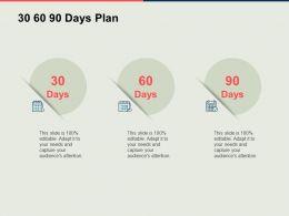 30 60 90 Days Plan Management Process Ppt Powerpoint Presentation Slides Summary