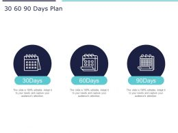 30 60 90 Days Plan Marketing A1021 Ppt Powerpoint Presentation Portfolio Layout