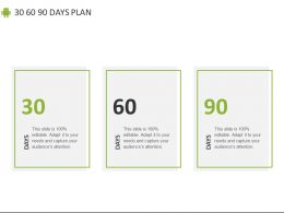 30 60 90 Days Plan Marketing C874 Ppt Powerpoint Presentation Diagram Lists