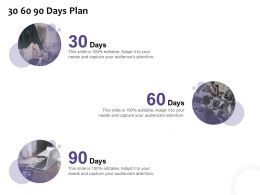30 60 90 Days Plan Marketing L1218 Ppt Powerpoint Presentation Gallery