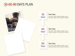 30 60 90 Days Plan Marketing L526 Ppt Powerpoint Presentation Model