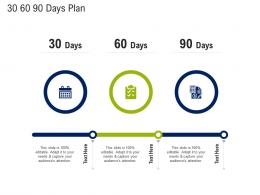 30 60 90 Days Plan Mission And Vision Statement Ppt Sample
