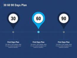 30 60 90 Days Plan N290 Powerpoint Presentation Skills