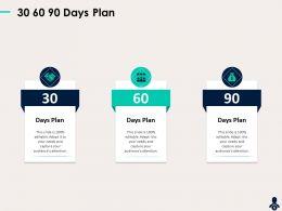 30 60 90 Days Plan N303 Ppt Powerpoint Presentation Summary