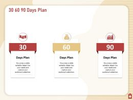 30 60 90 Days Plan N333 Powerpoint Presentation Outfit