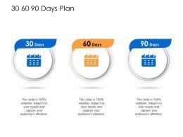 30 60 90 Days Plan N392 Powerpoint Presentation Topics