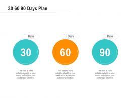 30 60 90 Days Plan Optimizing Business Ppt Topics